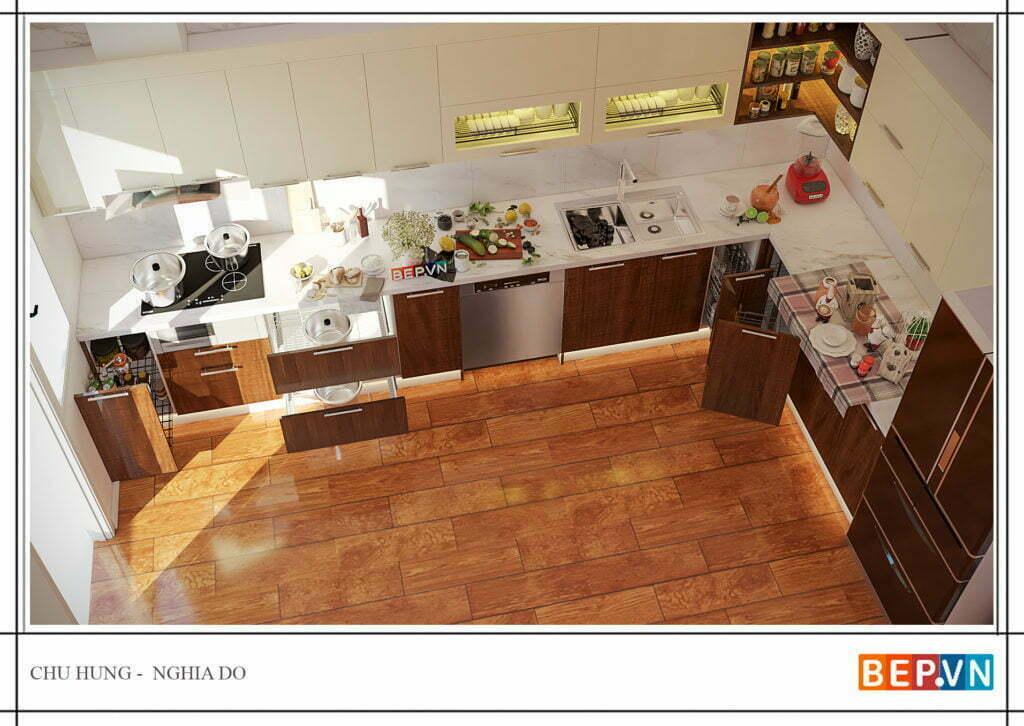 Phụ kiện tủ bếp thông minh cho tủ bếp chữ L