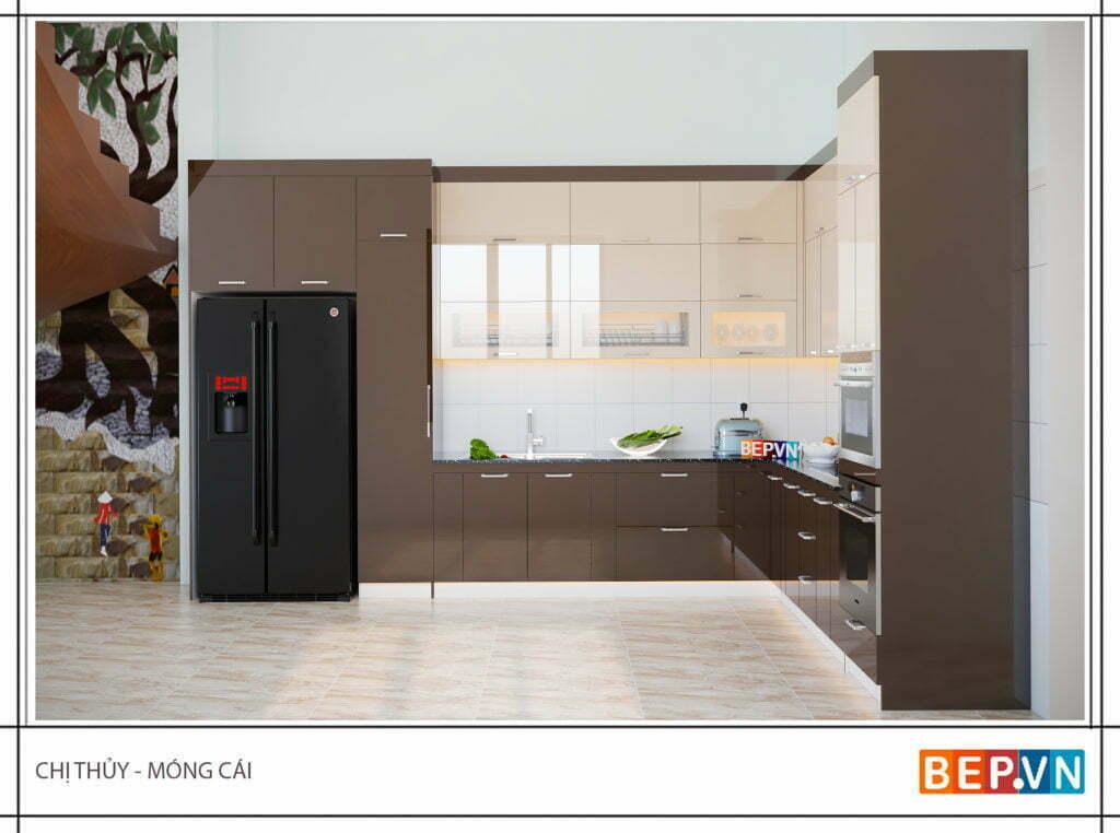 Mẫu thiết kế tủ bếp chữ l được yêu thích năm 2019 8