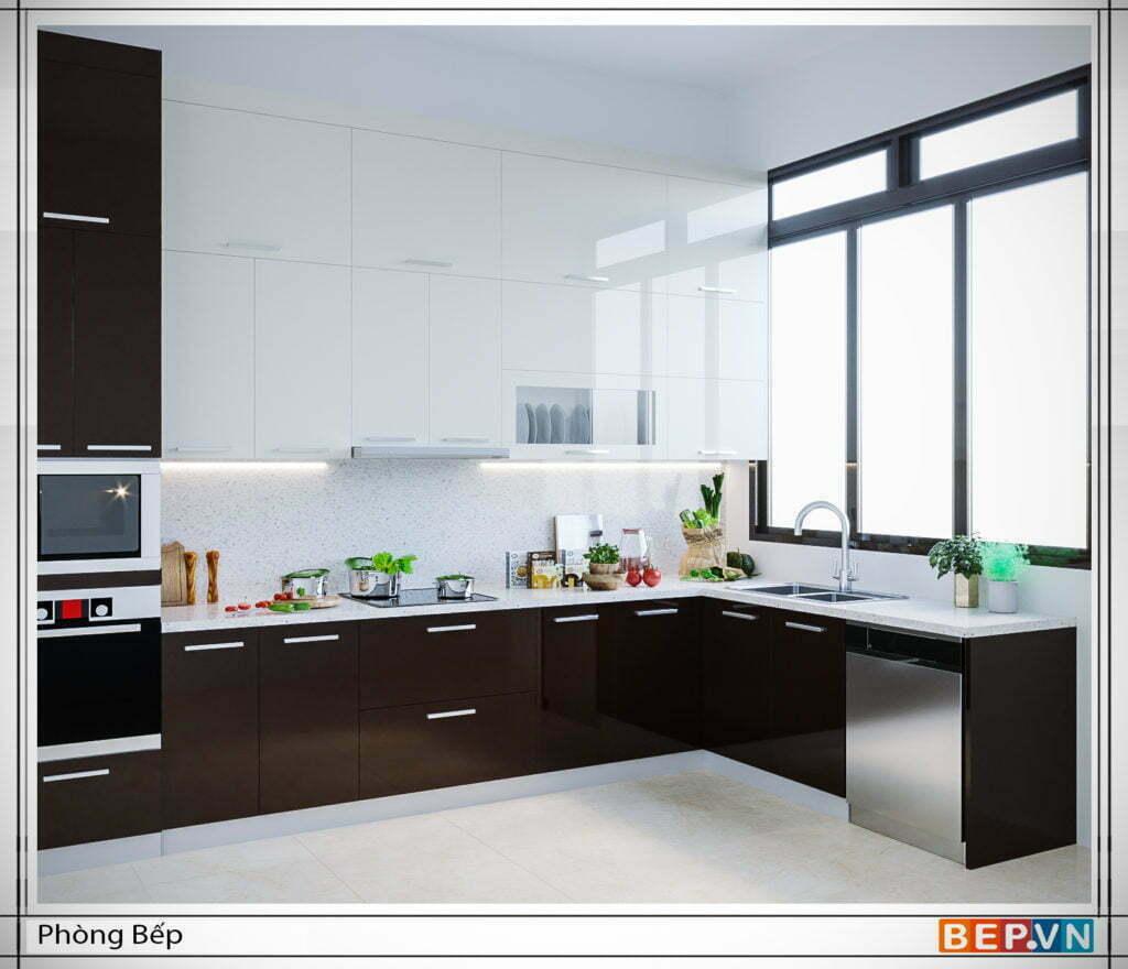 Thiết kế cửa sổ đón ánh nắng tự nhiên vào phòng bếp là cần thiết