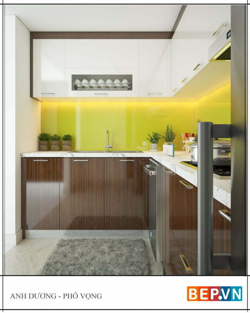 Mẫu thiết kế tủ bếp chữ l được yêu thích năm 2019 30