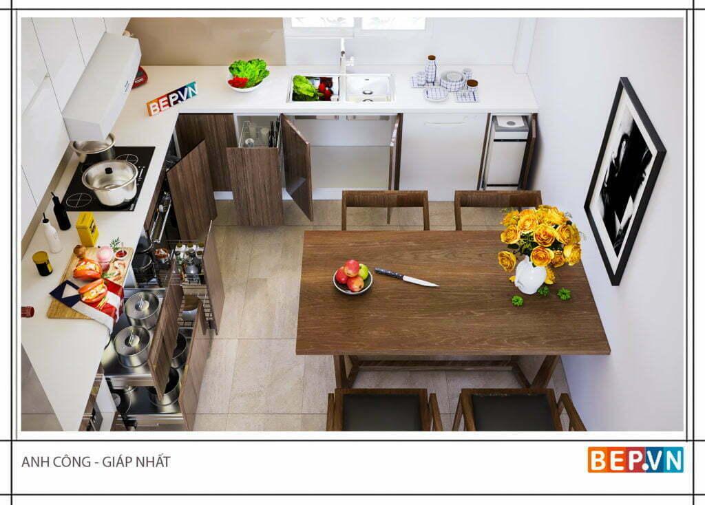 Mẫu thiết kế tủ bếp chữ l được yêu thích năm 2019 34