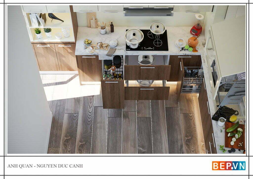 phụ kiện tủ bếp đẹp, hiện đại và thông minh