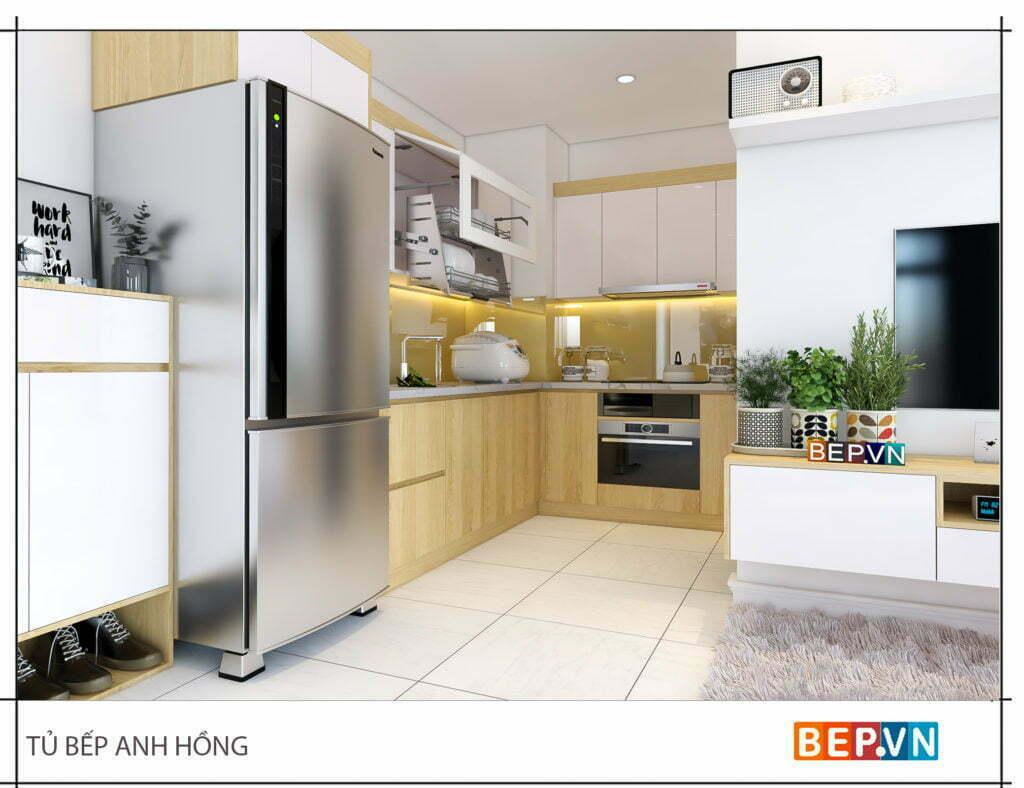 Mẫu thiết kế tủ bếp chữ l được yêu thích năm 2019 44