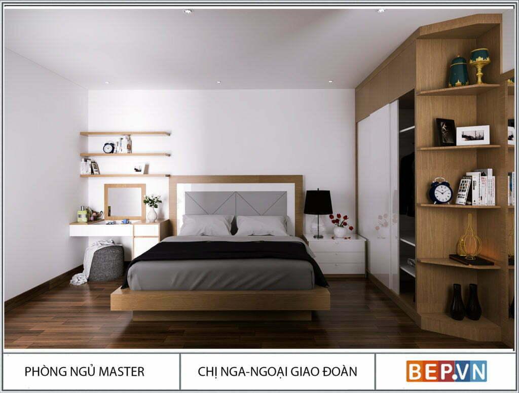 Ý tưởng thiết kế tủ quần áo phòng ngủ master
