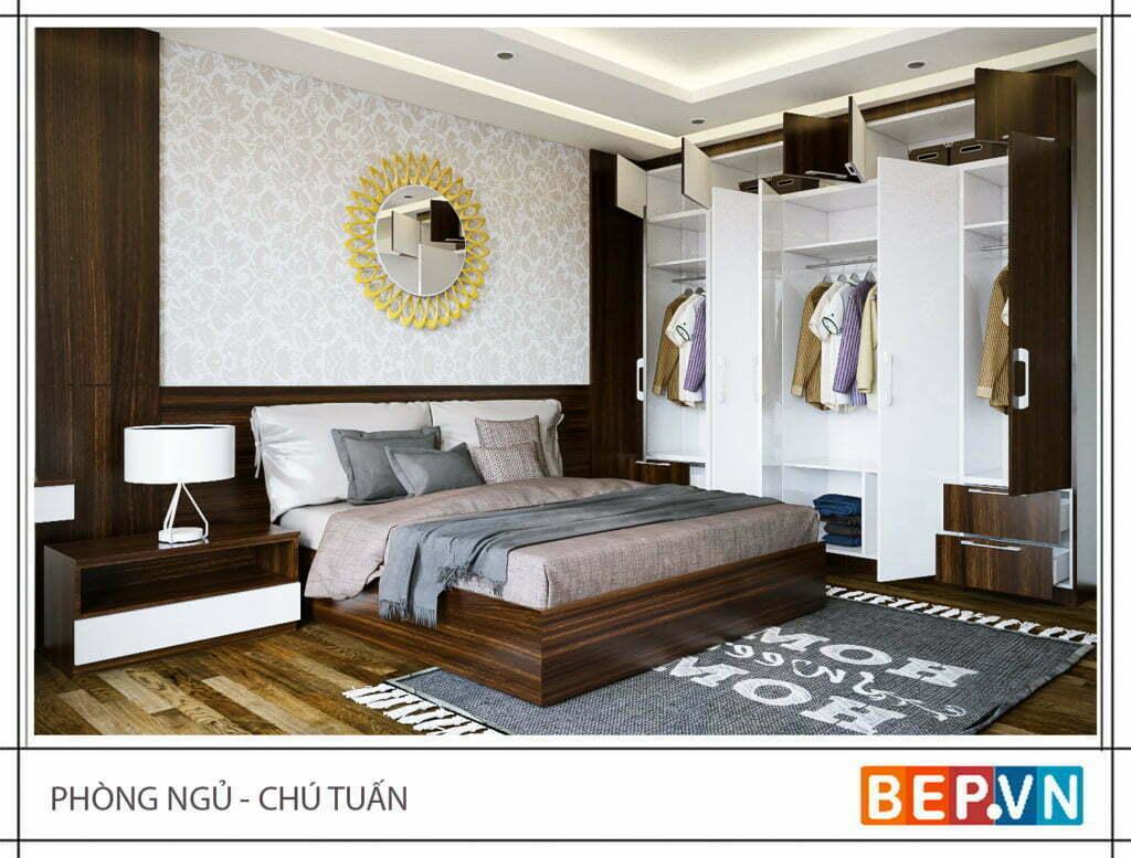 Thiết kế tủ quần áo đẹp cho phòng ngủ rộng