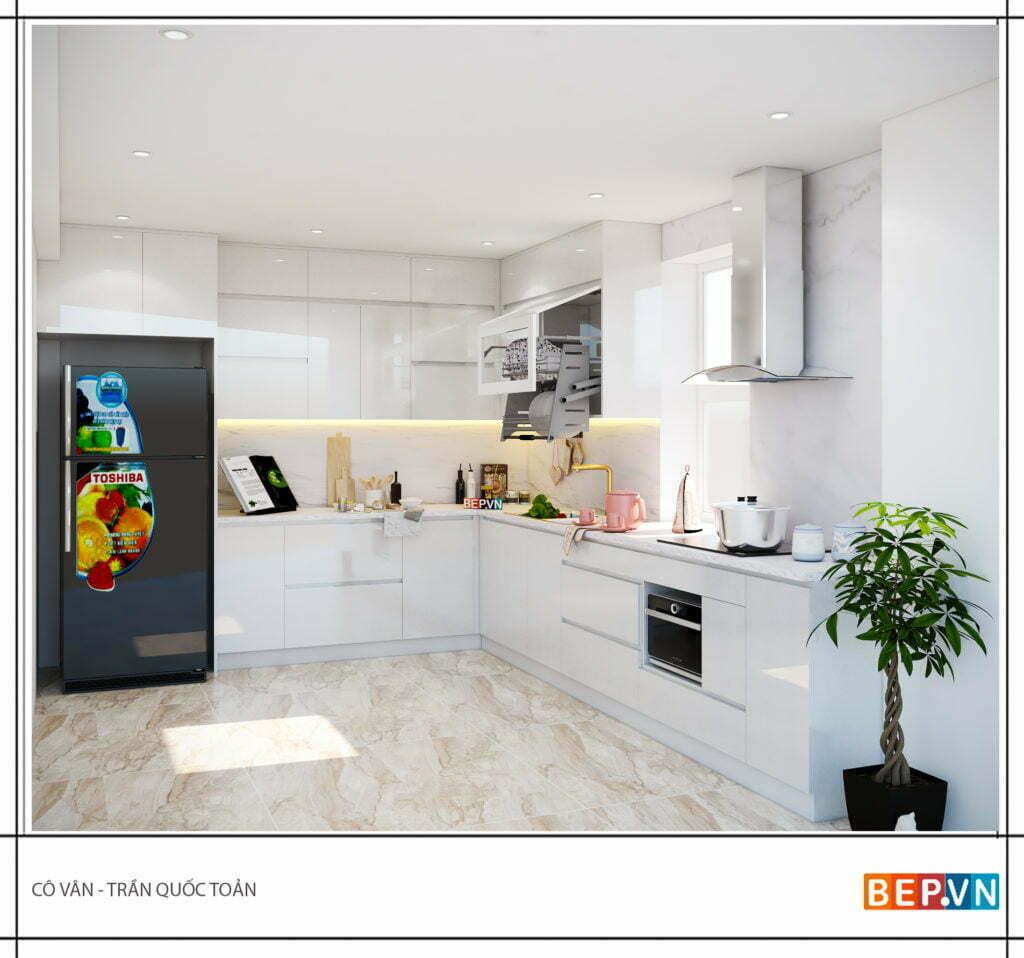 Mẫu thiết kế tủ bếp chữ l được yêu thích năm 2019 51