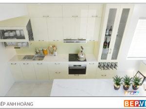 Thiết kế tủ bếp chữ i kết hợp đảo bếp nhà anh Hoàng - Đại Kim