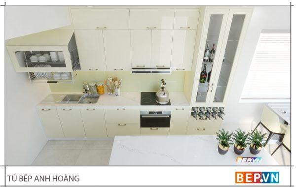 thiết kế tủ bếp chữ i hiện đại gia đình anH Hoàng -2