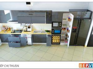Thiết kế tủ bếp chữ i đẹp chị Thuận - Đường Láng