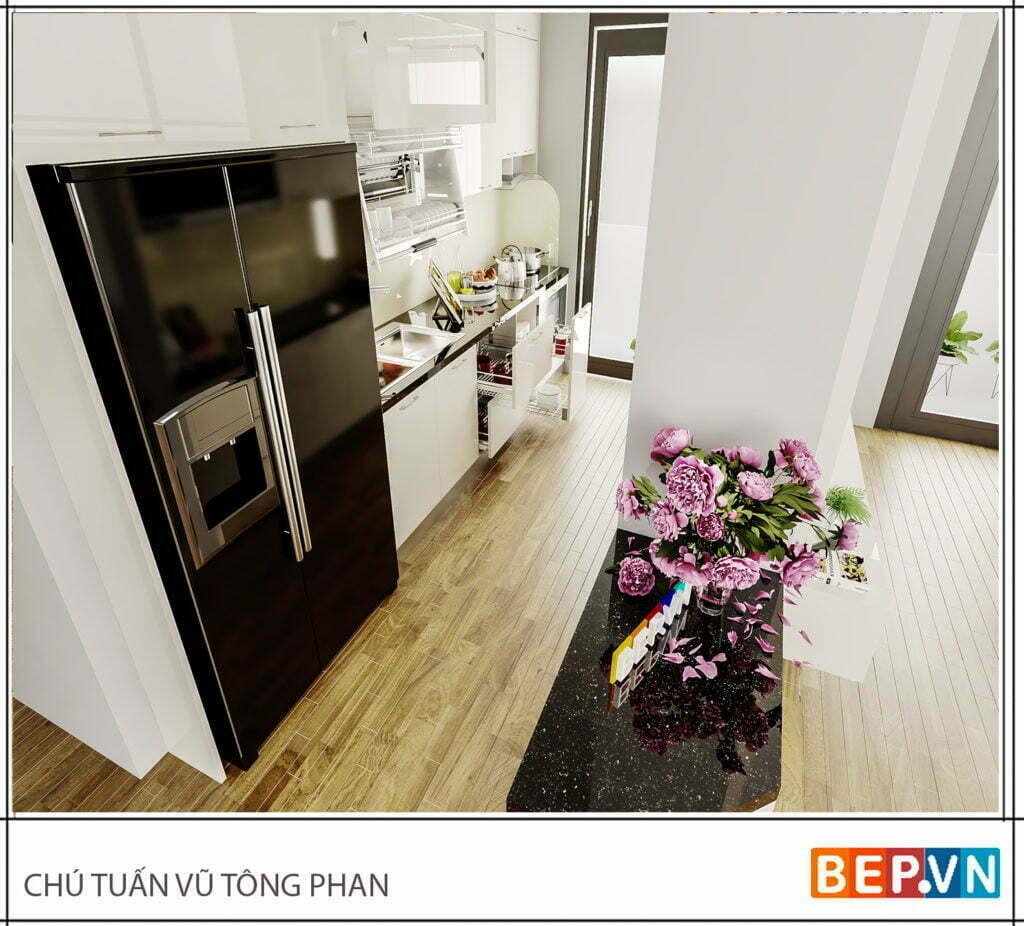 Lựa chọn màu sắc cho tủ bếp với diện tích nhỏ hẹp