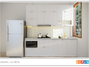 Thiết kế tủ bếp đẹp cho nhà nhỏ hiện đại