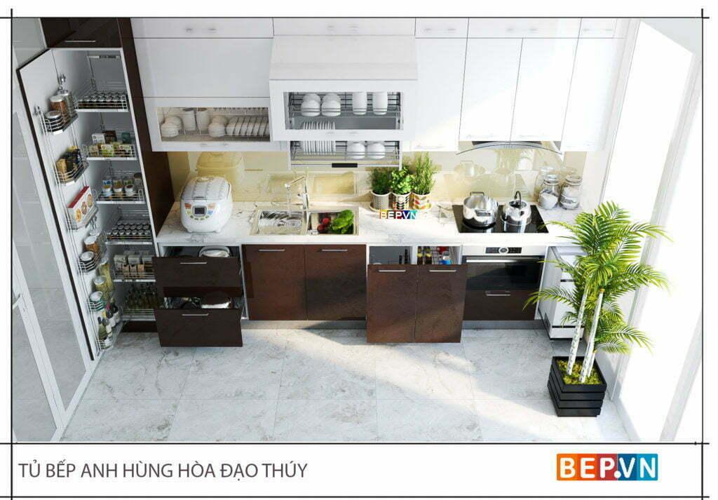 Tủ bếp đẹp, hiện đại với đầy đủ công năng
