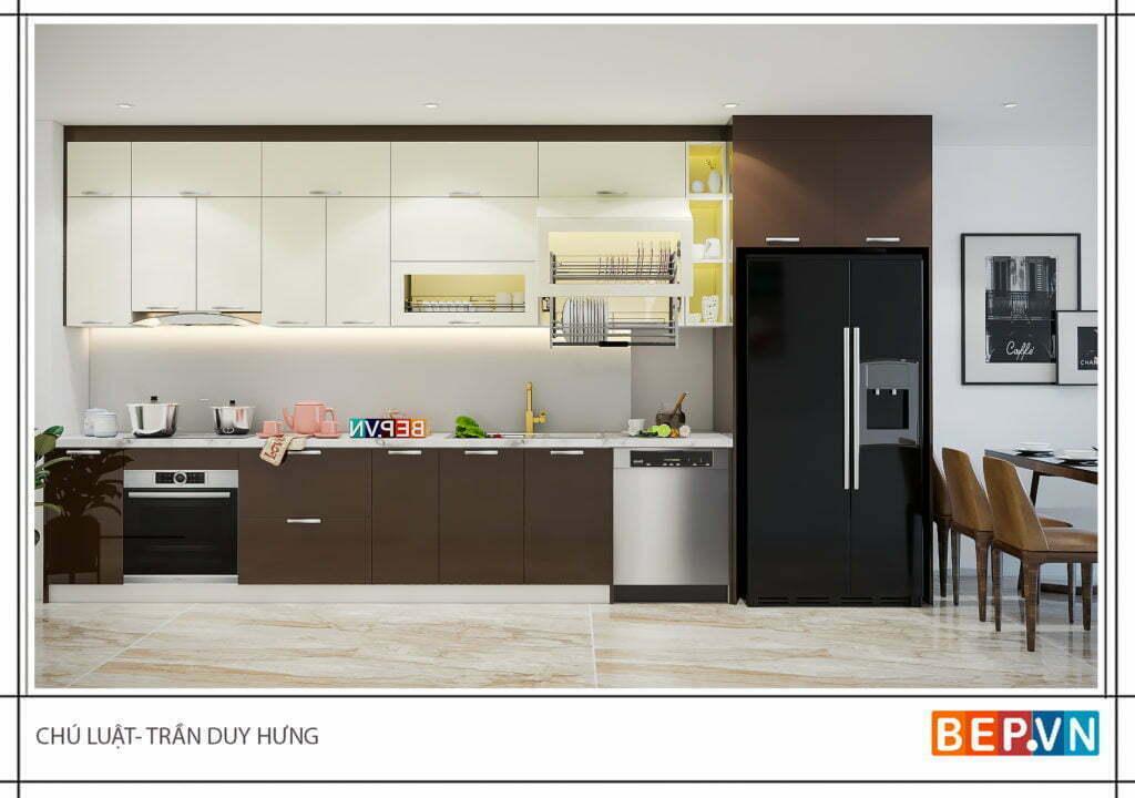 Lựa chọn kiểu tủ bếp chữ i cho phòng bếp đẹp?