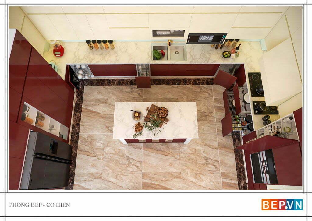 thiết kế tủ bếp đẹp, hiện đại