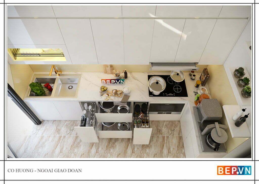 Phụ kiện tủ bếp thông minh mang lại sự tiện nghi trong quá trình sử dụng