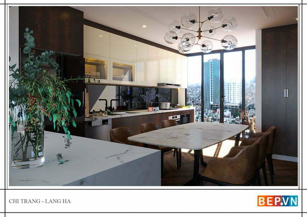 Thiết kế thêm cửa sổ đón ánh nắng vào phòng bếp