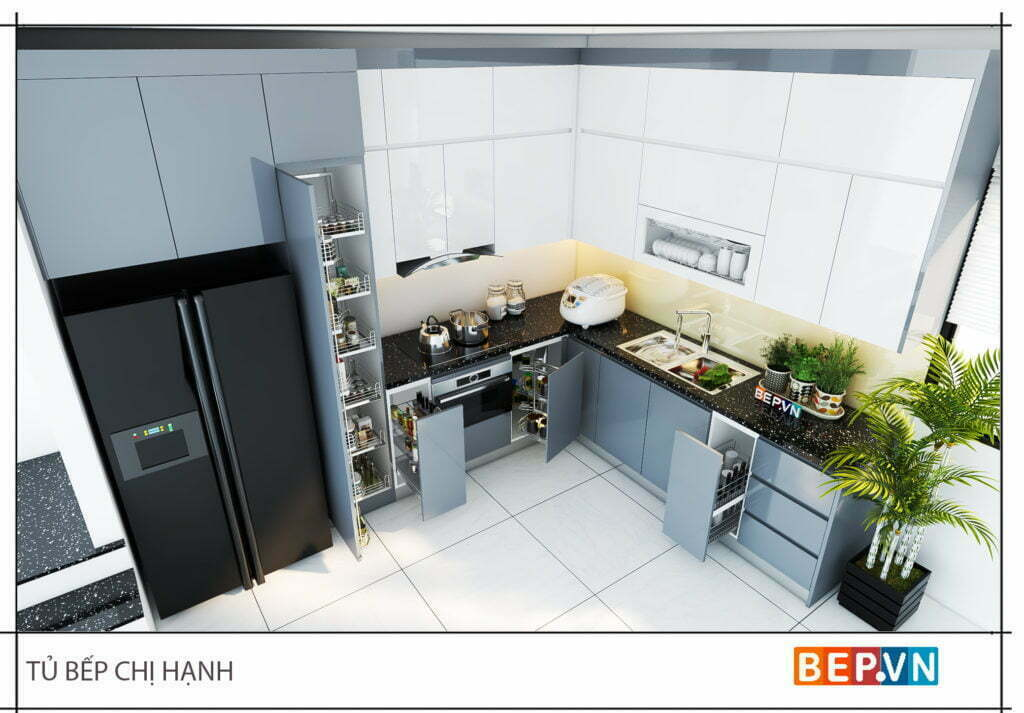 Phụ kiện tủ bếp. thiết bị bếp thông minh và hiện đại