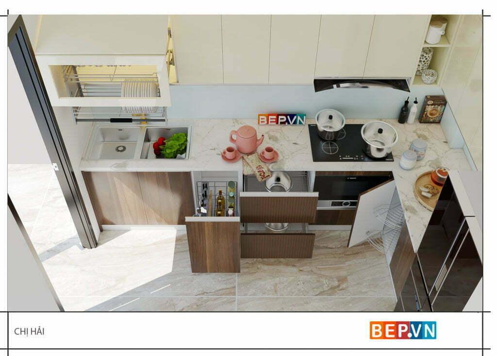 Phụ kiện cho tủ bếp nhỏ nhưng vẫn khiến chị em thích thú mỗi khi vào phòng bếp