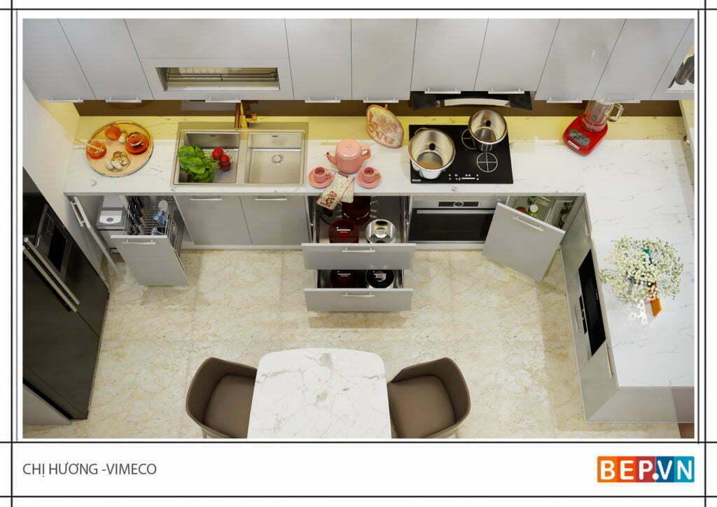 Phụ kiện tủ bếp nhà chị Hương - Vimeco