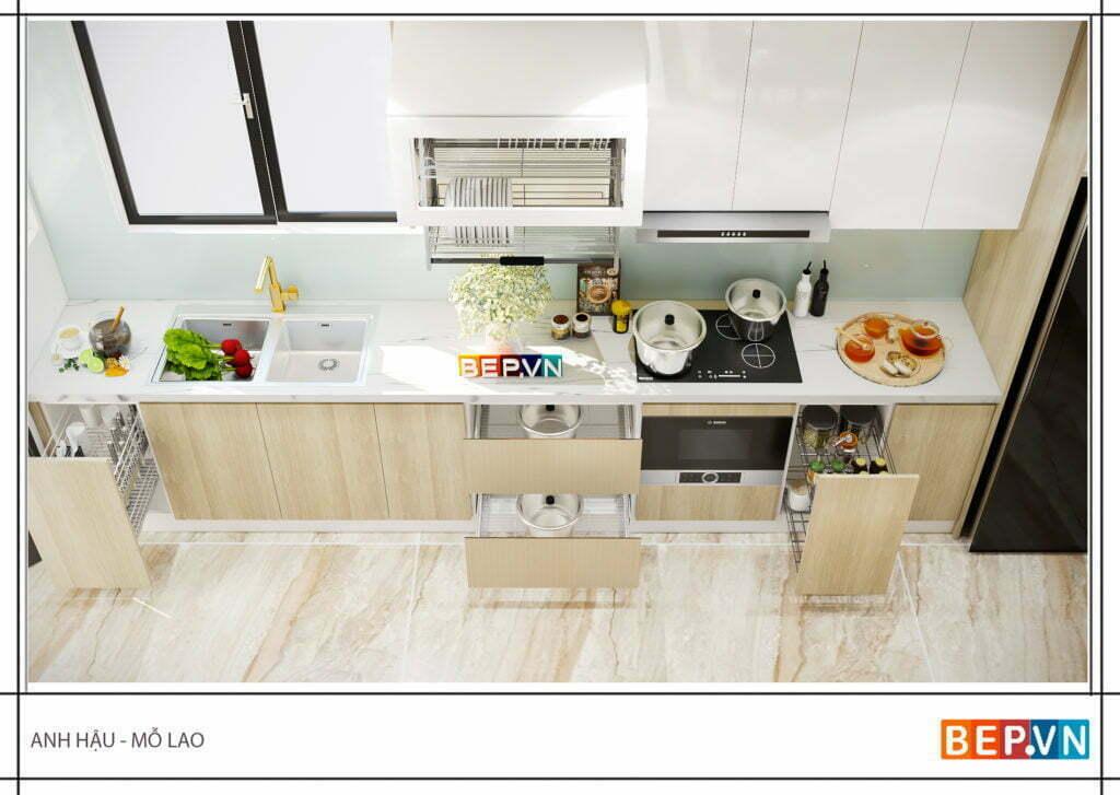 Ý tưởng thiết kế tủ bếp cho nhà nhỏ không còn là nỗi lo