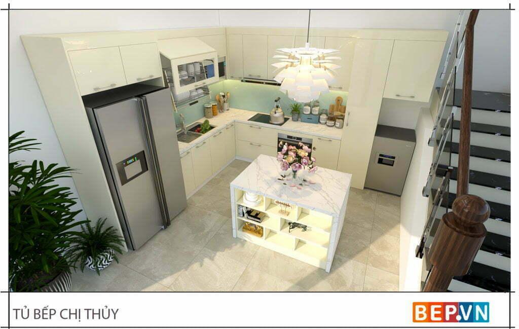 Lựa chọn đá kính cho bàn bếp và ốp tường bếp