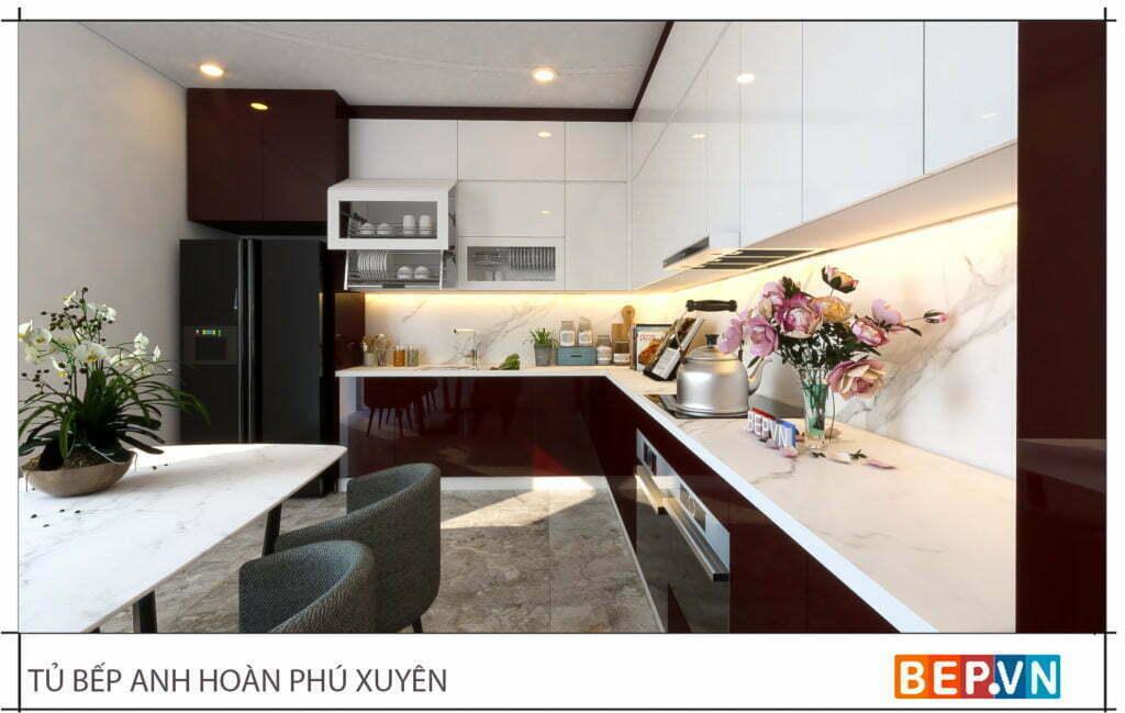 lựa chọn đá bàn bếp và ốp tường bếp phù hợp