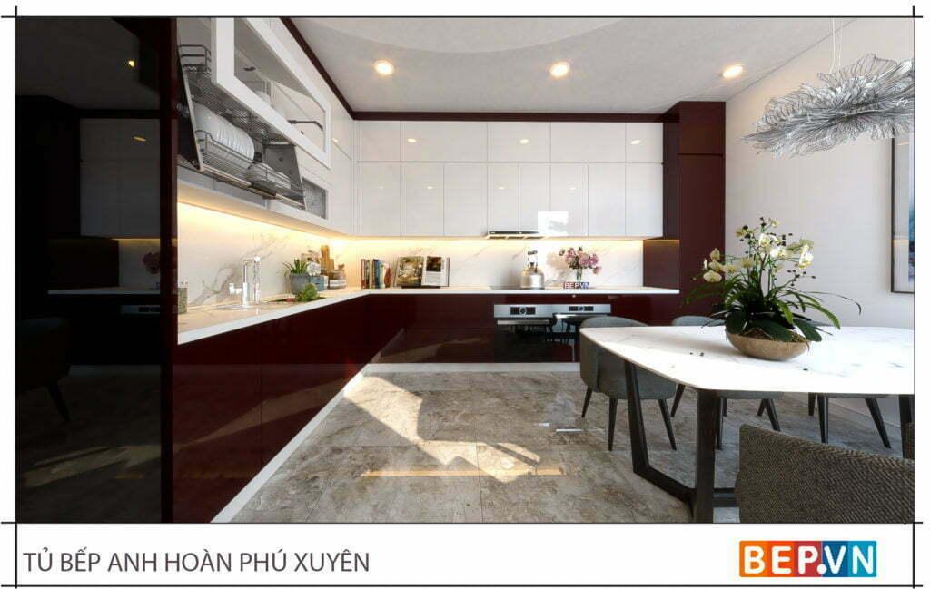 Lựa chọn chất liệu tủ bếp phù hợp với không gian