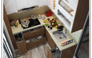Lựa chọn đá bàn bếp và ốp tường bếp sang trọng