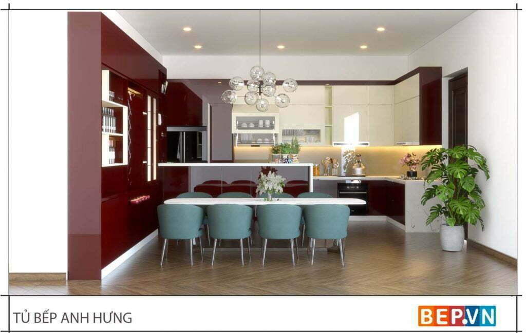 Lựa chọn màu sắc theo phong thủy phòng bếp