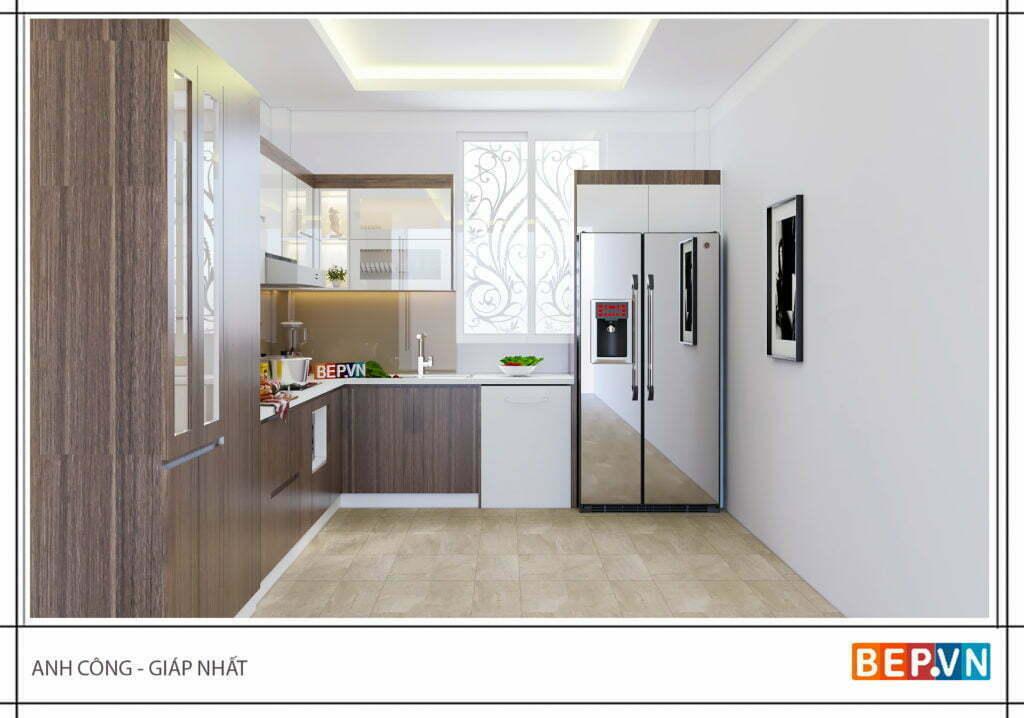 Lựa chọn màu sắc tủ bếp giản dị, mộc mạc và ấm cúng