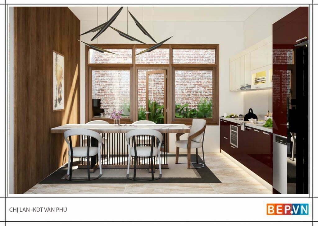 Phong cách thiết kế phòng bếp hiện đại và tiện nghi
