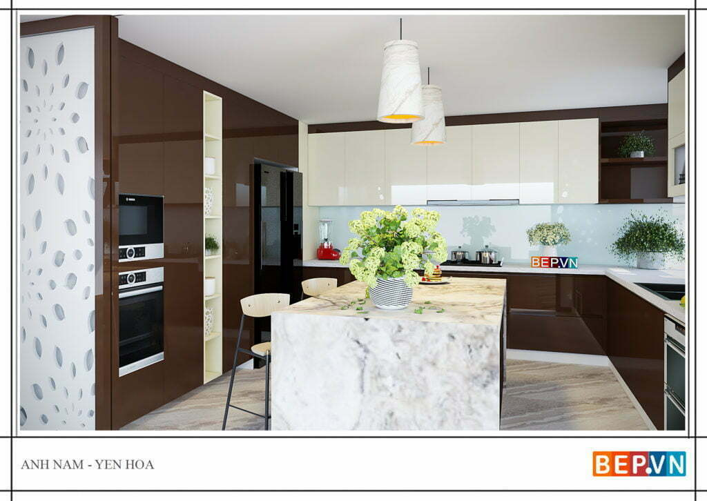 Thiết kế đảo bếp sang trọng cho tủ bếp hiện đại, sang trọng hơn
