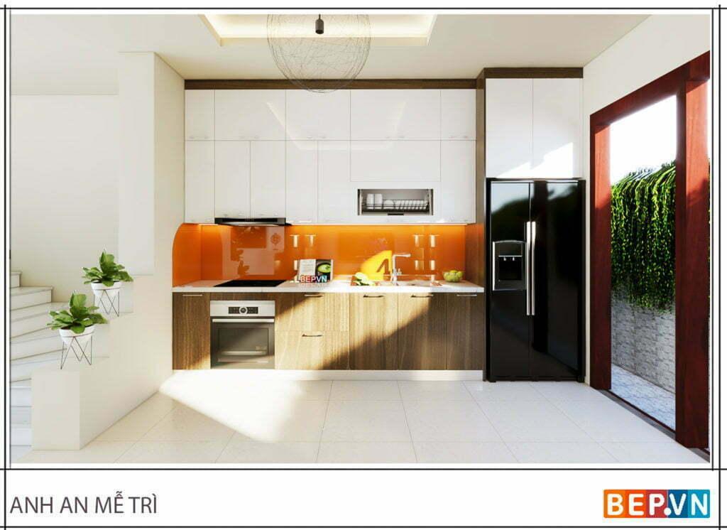 Tủ bếp chữ i phù hợp cho nhiều không gian phòng bếp